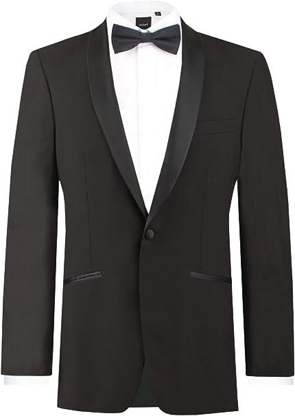 44 L Black 1 button Notch Tuxedo Wool complete Coat Pants Shirt Tie cummerbund !