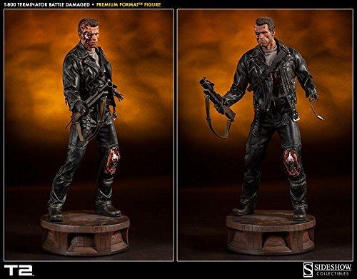 Sideshow Terminator - Sideshow T-800 Terminator Battle Damaged Premium Format Figure Statue