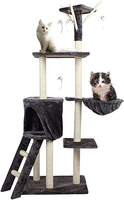Ccgdgft Juguetes del Gato del Gato Grande Escalada Arena for Gatos ...