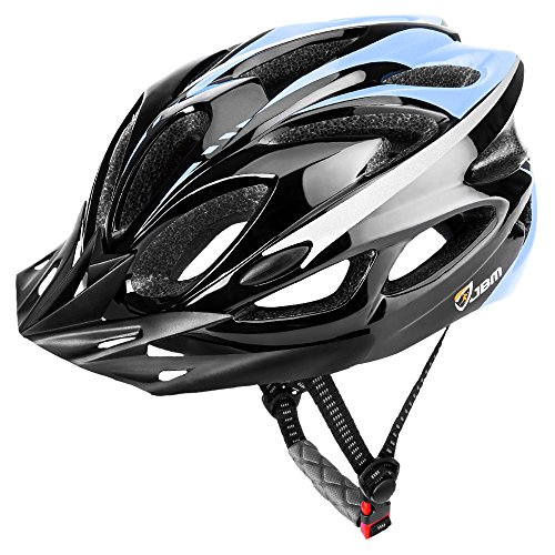 JBM international JBM Adult Cycling Bike Helmet Specialized for Mens Womens Safety Protection Red/Blue/Yellow (Black & Blue, Adult) Review