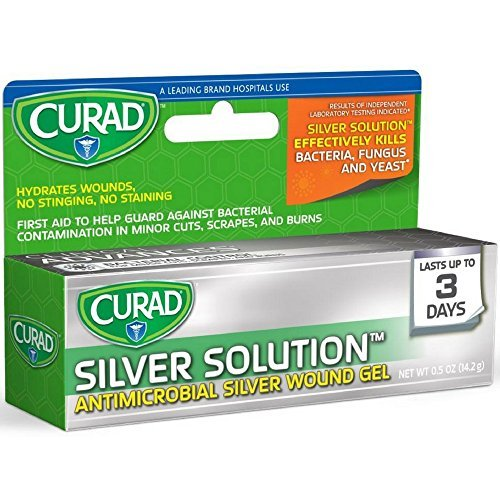 Curad Silver Solution Antimicrobial Gel 0.50 oz (Pack of 2)