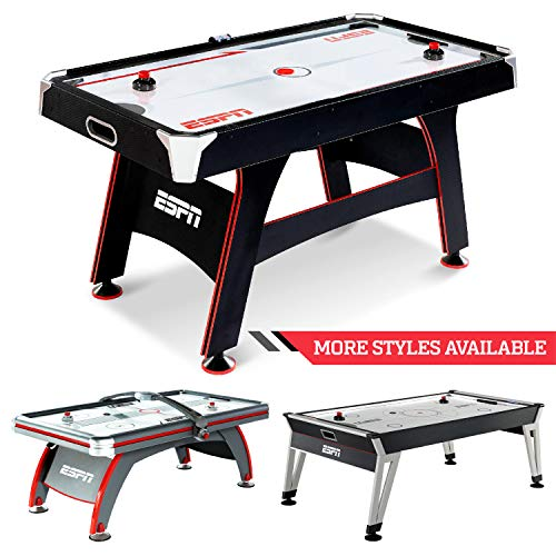 ESPN Air Hockey Game Table: Indoor Sports Gaming Table Set