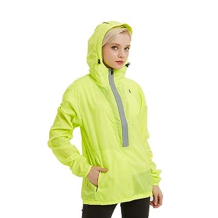 491b47597964 Amazon.com : J.CARP Women's Windproof Jacket, Big Reflective ...