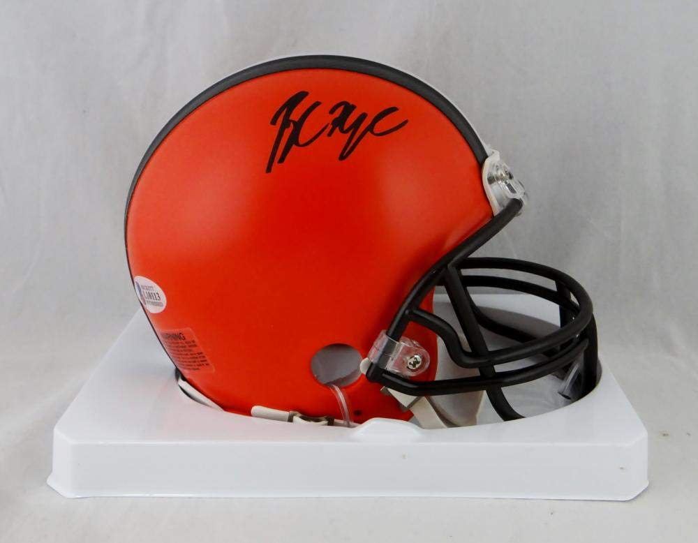 Baker Mayfield Autographed Cleveland Browns Mini Helmet Beckett W Auth Black