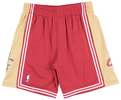 (Cleveland Cavaliers Mitchell & Ness Red Swingman Shorts (Large))