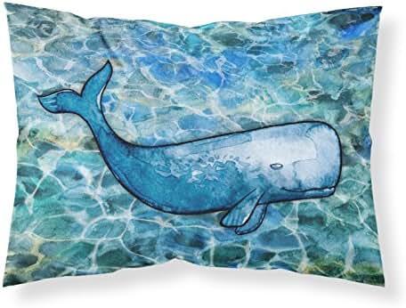 Caroline's Treasures Sperm Whale Cachalot Printed, Polyester, 250 Thread count, Envelope closure Pillowcase, Standard, Multicolor