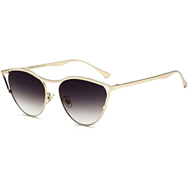 86f0bcaa46b Super Cateyes Vintage Inspired Fashion Mod Chic High Pointed Cat-Eye  Sunglasses Mirrored Flat Lenses Metal Frame  Amazon.co.uk  Clothing