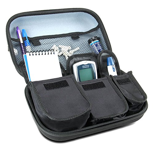 Diabetic Supplies Travel Case Organizer for Blood Glucose Monitoring Systems , Syringes , Pens , Insulin Vials and (Glucose Pen)