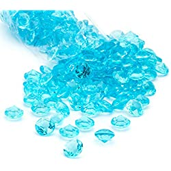 Acrylic Diamonds Gems Crystal Rocks for Vase Fillers, Party Table Scatter, Wedding, Photography, Party Decoration, Crafts by Royal Imports, 3 lbs (Approx 440-460 gems) - Aqua