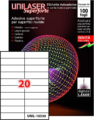 100 hojas A4 - Etiquetas adhesivas para impresoras láser ...