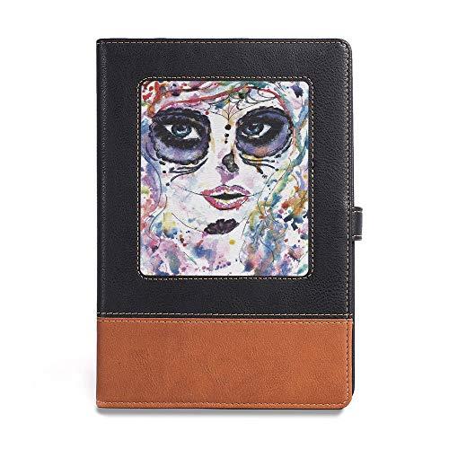 (Durable Journal Writing Notebook,Sugar Skull Decor,A5(6.1