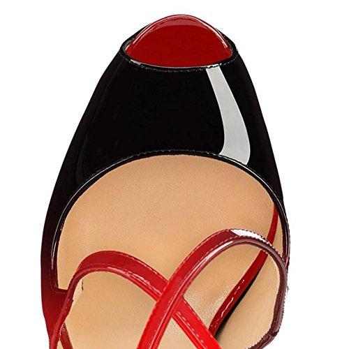 Korkokenkiä Yc Osapuoli 37 Stiletto Kengät Hyvät Soljen Punainen Kaksinkertaisen Sandaalit Naisten Kokoa Siellä Tuskin Gl nTdqIq