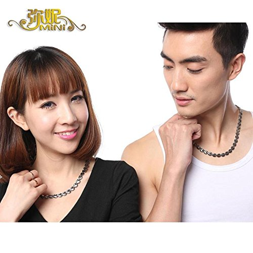 Generic Mi-ni_ steel _germanium_ stone stones necklace Pendant man boy women girl couple heart-shaped Valentine's Day _Mid-paragraph by Generic