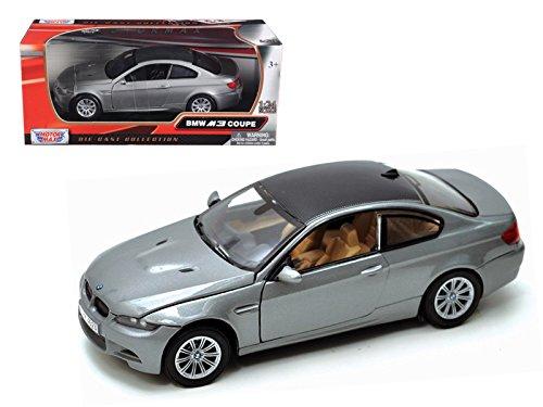 Motormax 73347 BMW M3 E92 Coupe Gray 1/24 Diecast Model Car