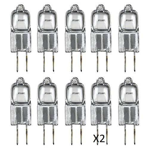 Classic Light Bulb - JC 50 Watt Halogen GY6.35 Bi Pin Lamp (12V) Low Voltage (20 Pack) (50 Watt)