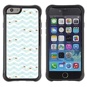 """Pulsar iFace Series Tpu silicona Carcasa Funda Case para Apple iPhone 6+ Plus(5.5 inches) , Modelo azul blanco Sea Fish"""""""
