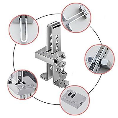 Motorhot Clutch Lock Vehicle Brake Lock Anti-Theft Device Stainless Steel 8 Holes: Beauty