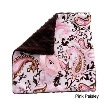 Amazon.com: Recién nacido bebé Rosa diseño de Paisley tela ...