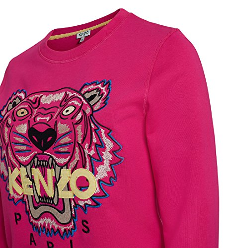 4c5212593c4 Kenzo Women s Pink Embroidered Icon Tiger Sweatshirt Jumper Top Signature  (S) at Amazon Women s Clothing store