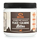 Image of Dog Calming Treats and Soft Chews with 100% Organic Hemp Oil, Valerian - Relief from Stress, Anxiety from Storms, Barking, Fireworks, or Vet Visits - 103 Count Chewing Bites