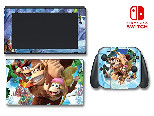Donkey Kong Country Tropical Freeze Diddy Dixie Video Game Vinyl Decal Skin Sticker Cover For Nintendo Switch Console System