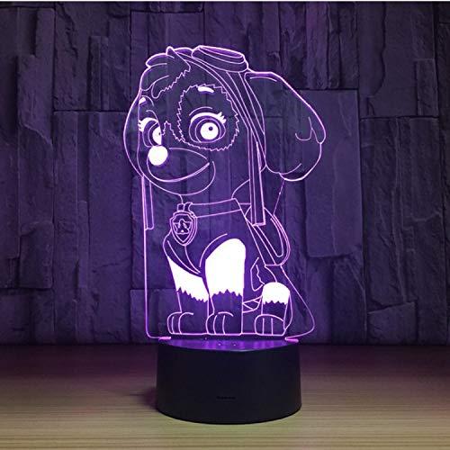 3ce7c8b57b Blbling Encantador Perro Perro Perro De Dibujos Animados 3D Ilusión Lámpara  Led Cambio De Color Usb Escritorio Lámpara De Mesa Flying Dog 3D Luz de  noche ...