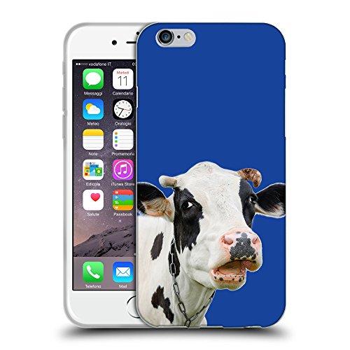 "GoGoMobile Coque de Protection TPU Silicone Case pour // Q05710613 Vache curieuse Blu // Apple iPhone 6 4.7"""