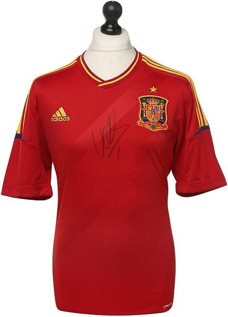 David Villa firmó autógrafos conmemorativos España camisa camiseta arranview + COA: Amazon.es: Deportes y aire libre