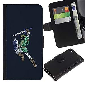 NEECELL GIFT forCITY // Billetera de cuero Caso Cubierta de protección Carcasa / Leather Wallet Case for Apple Iphone 4 / 4S // Zeld Guerrero Zalda