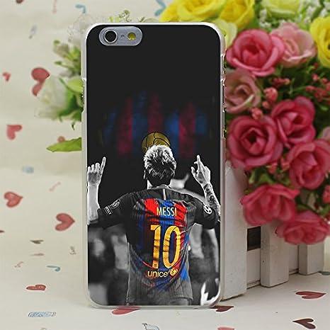 Noir 3d Lionel Messi Coque pour iPhone 8 Plus Soccer Joueur de ...