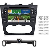 2007-2012 Nissan Altima Bluetooth Indash Car GPS Navigation System with Backup Camera 7 Inch Touchscreen AV Receiver Deck Stereo DVD CD Display Radio Headunit Infotainment w/ Copyrighted iGo Primo Map