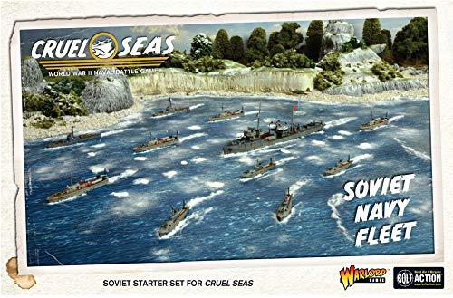 Cruel Seas Soviet Navy Fleet 1:300 WWII Naval Military Wargaming Plastic Model Kit