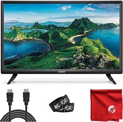 VIZIO D-Series 32-Inch Class 1080p Full HD LED Smart TV (D32F-G1) with Built-in HDMI, USB, SmartSolid, Voice Control Bundle with Circuit City 6-Feet 4K HDMI Cable and Accessories
