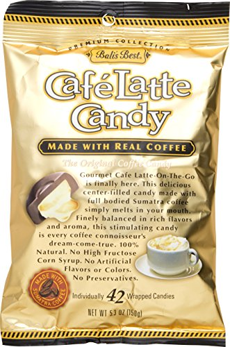 Bali's Best Cafe Latte Candy, 5.3 oz (Pack of 3) Latte Candy