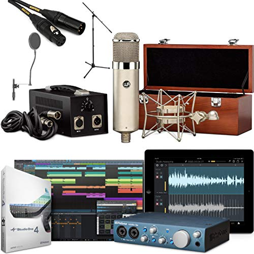 (Recording Studio Microphone Bundle with WA-47 Tube Condenser AudioBox iTwo USB Interface)