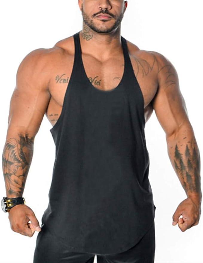 Gym Men Muscle Sleeveless Tank Top Tee Shirt Bodybuilding Sport Fitness Vest UK
