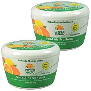 Citrus Magic Solid Air Freshener Fresh Citrus, Pack of 2, 20-Ounces Each