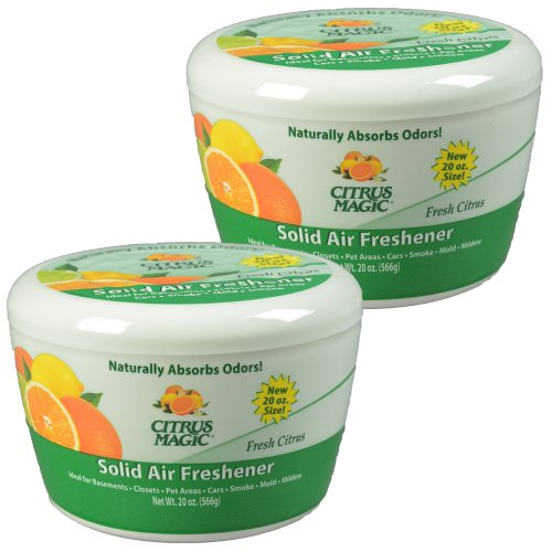 Citrus Magic Solid Air Freshener, Pack of 2, 20-Ounces Each
