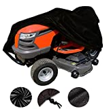 VVHOOY Waterproof Lawn Tractor Mower Cover,54inch 210D Oxford Heavy Duty Riding Lawn Cover,Universal Fit for Toro, Craftsman, Honda, Husqvarna, John Deere,Cub Cadet,Greenworks Lawn Mower etc