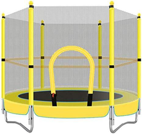 LKFSNGB 子供用トランポリン 4.8フィート 安全ネット付きおもちゃトランポリン 屋外と屋内の遊び場に最適 重さ150kg