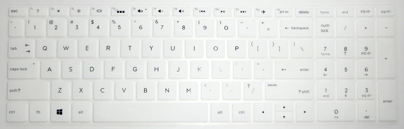 Blue US Layout Keyboard Protector Skin Cover for HP 15-DF 15M-DR 15M-DS 15-DW 15M-CP 15-CB 15-CC 15-CD 15-CH 15M-BP 15-BS 15M-BQ 15-BW 17-BS 17M-AE 17-AK 17M-CE Series with BingoBuy Card Case
