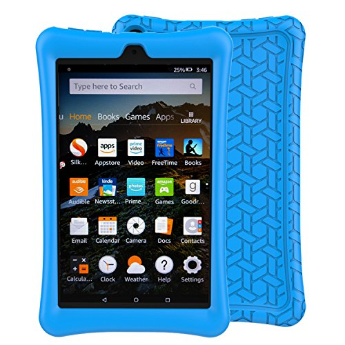 LTROP Tablet Case for All-New Fire HD 8 2018 / 2017 - Light Weight Shock Proof Soft Silicone Kids Friendly Case for All-New Fire HD 8 Tablet (7th Generation, 2017 Release & 8th Generation, 2018 Releas