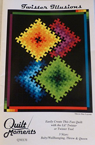 Twister Illusions Quilt Pattern by Quilt Moments - 3 Sizes - Baby, Throw, Queen