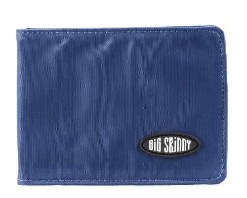 Big Skinny Men's Acrobat Money Clip Slim Wallet, Holds Up to 20 Cards, Navy