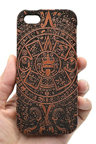 VolksRose iPhone 5 iPhone SE iPhone 5S Wood Case - Rosewood Maya - Premium Quality Natural Wooden Case for Your Smartphone and Tablet - by VolksRose(TM)