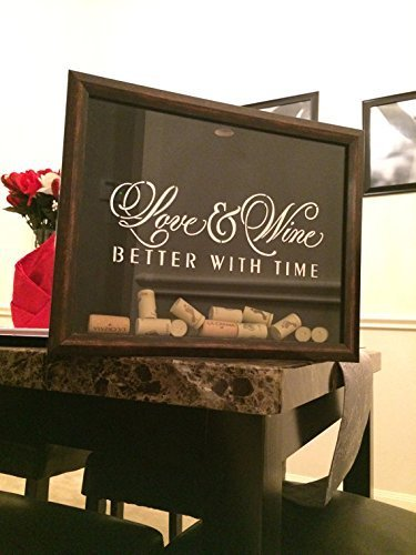 wine cork holder frame love wine better with time custom personalized