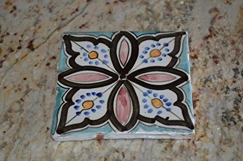 Moroccan Handpainted Ceramic Tile Decorative Spanish Moorish (Moorish Mosaic)