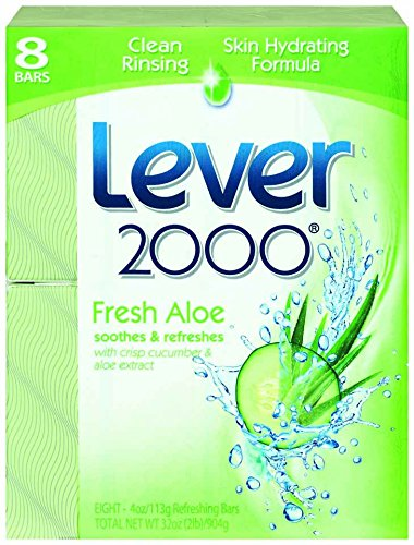 Lever 2000 Bar Soap, Aloe & Cucumber, 4 oz, 8 - Bar Deodorant Lever Soap