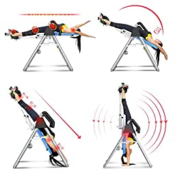 Summer Promotion Crystal Home Use Sports Equipment Inversion Table Thrapy System Fitness Equipment (blue&white)