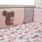 Lambs-Ivy-Calypso-PinkGrayWhite-Koala-4-Piece-Baby-Crib-Bumper